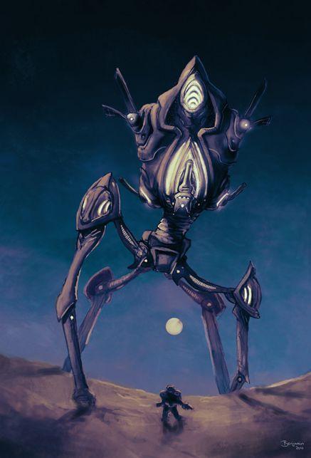 Одинокий колосс Starcraft, Starcraft 2, Протоссы, Blizzard, Колосс, Арт