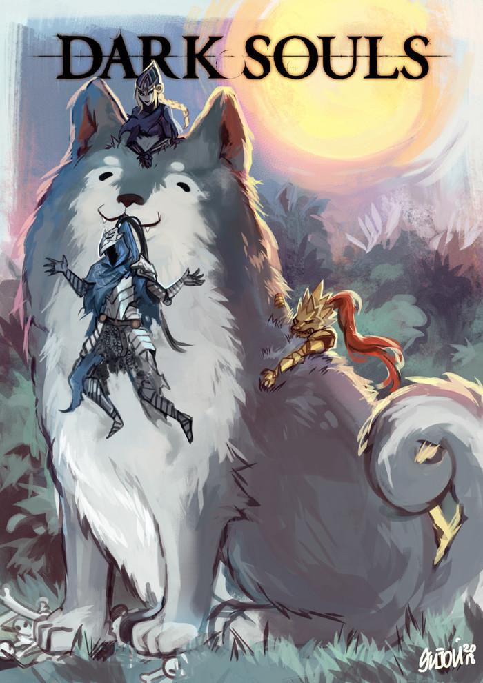 ByNatasha Enijoi Dark Souls, Dark Souls 3, Игры, Арт, Рисунок, Гвиндолин, Арториас, Natasha Enijoi, Длиннопост