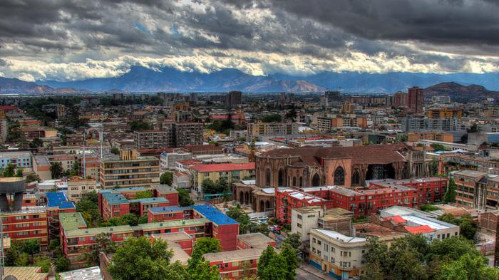 Сантьяго после дождя. Чили, Сантьяго, Фотография, Hdr, Canon