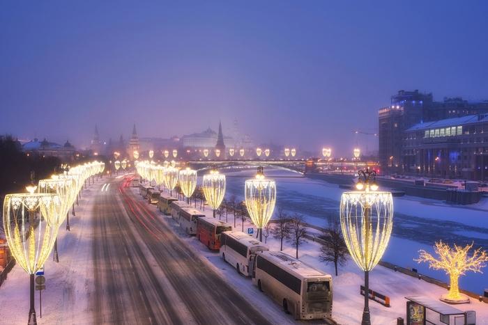 Зимний вечер Фотография, Pentax, Зима, Москва, Длиннопост