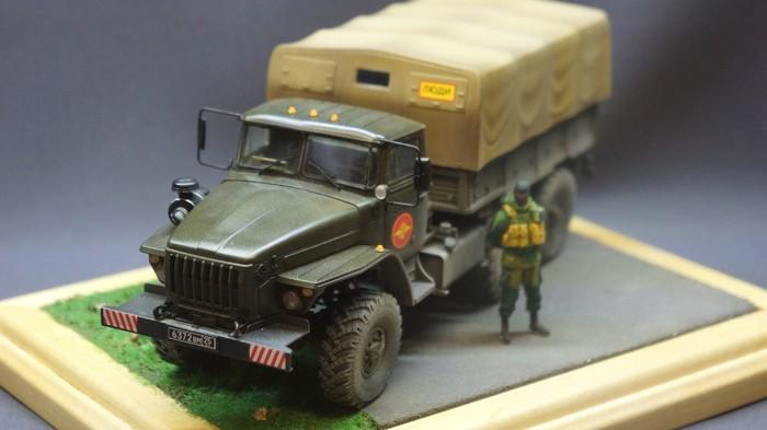 Готовая модель: Урал-4320 от Звезды Урал 4320, Модель от Звезды, Длиннопост