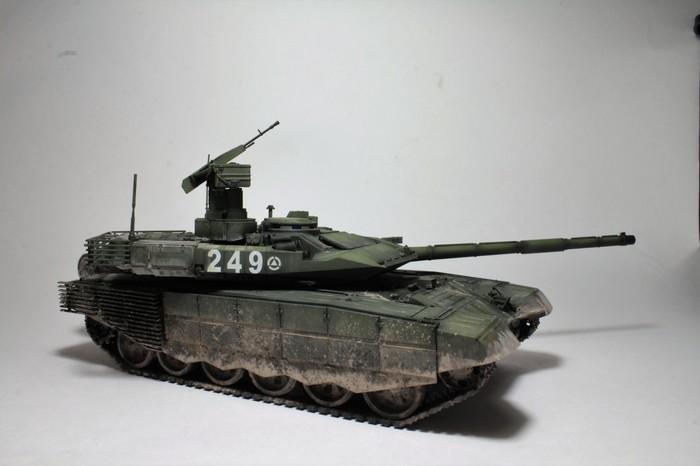 """Модель танка Т-90МС, """"Звезда"""", масштаб 1:35 т-90мс, Танк т-90мс, Армия России, Звезда, 1:35, Масштабная модель, Длиннопост"""