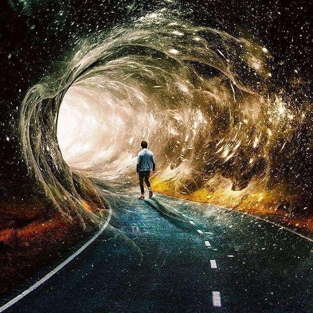 Дорога во вселенную Арт, Картина, Художник, Искусство, Вселенная, Дорога, Космос, Seamless