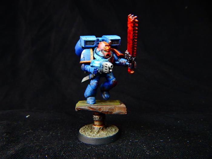 Ассолтники Warhammer 40k, Wh miniatures, Wh painting, Миниатюра, Покраска миниатюр, Ultramarines, Длиннопост