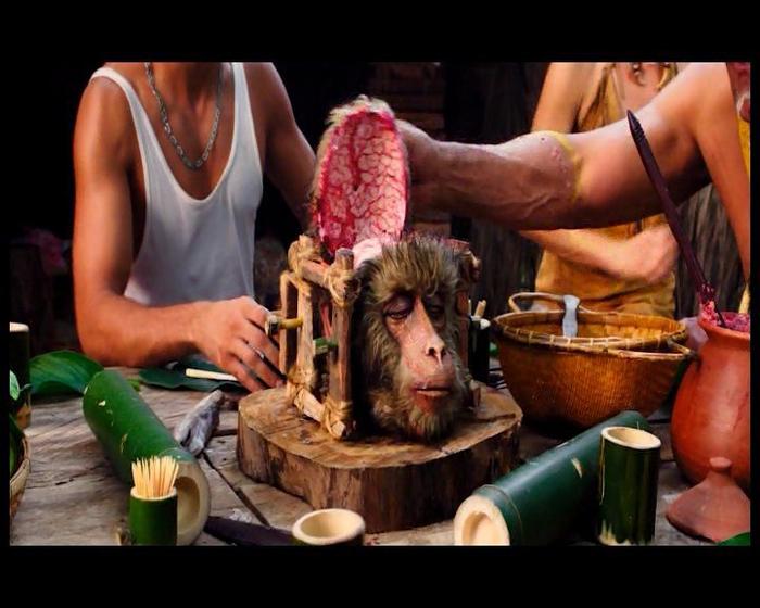 Живая закуска Жесть, Обезьяний мозг, Необычная еда, Обезьяна, Китай