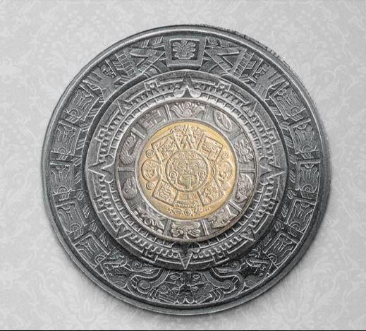 Коин-арт Монета, Нумизматика, Мексика, Песо, Ацтеки, Календарь, Фейк