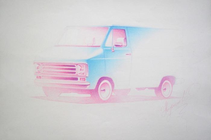 Sketchy Customm Van