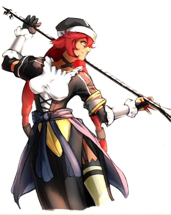 Рыжик-вервольфик!(=^ . ^=) Lupusregina Beta, Арт, Аниме, Anime Art, Overlord, Длиннопост