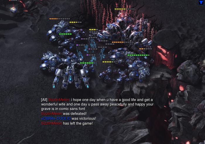 Жестоко :( Starcraft 2, Игры, Шрифт, Comic sans, Лучшие пожелания, Starcraft