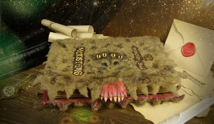 Чудовищная книга о чудовищах. Гарри Поттер, Своими руками, Книги, Фэнтези, Ручная работа, Хогвартс, Рукоделие, Рукоделие с процессом, Длиннопост