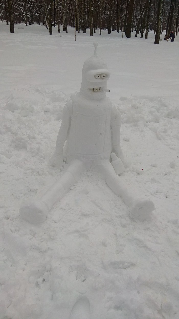 Немного упоротости Парк Победы, Снеговик, Зима, Бендер, Длиннопост