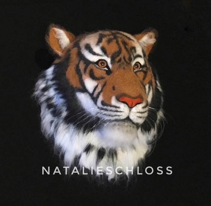Мой тигрище. Тигр, Украшение на стену, Голова тигра, Муляж, Рукоделие без процесса, Сухое валяние, Хобби