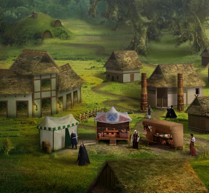 Возвращение в Оплот Оплот, Герои Меча и Магии, Фотоарт, Vio, Фан-Арт, Фэнтези, Длиннопост, Игры