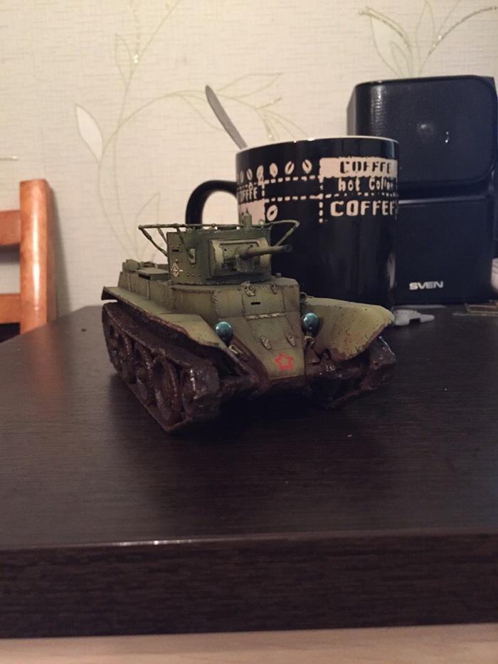 Когда чашка больше танка) Танки, Моделизм, Модель, Покраска, Юмор, Чашка