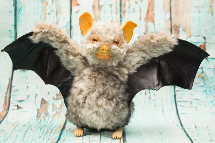 Ну почти летучая мышь Мягкая игрушка, Летучая мышь, Чучело, Полимерная глина, Рукоделие без процесса, Длиннопост