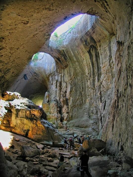 Удивительная пещера Проходна - Глаза Бога, Болгария Дикая природа, Природа, Пещера, Красота