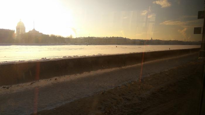 Оледенелая река Санкт-Петербург, Река, Зима, Лед, Нева