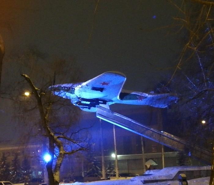 ВАСО ночью Авиация, Самолет, Ил-2, Ночь, Зима