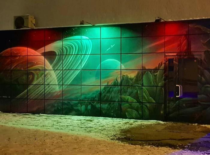 Новое граффити в центре Екатеринбурга Граффити, Екатеринбург, Мурал, Стрит-Арт, Рисунок