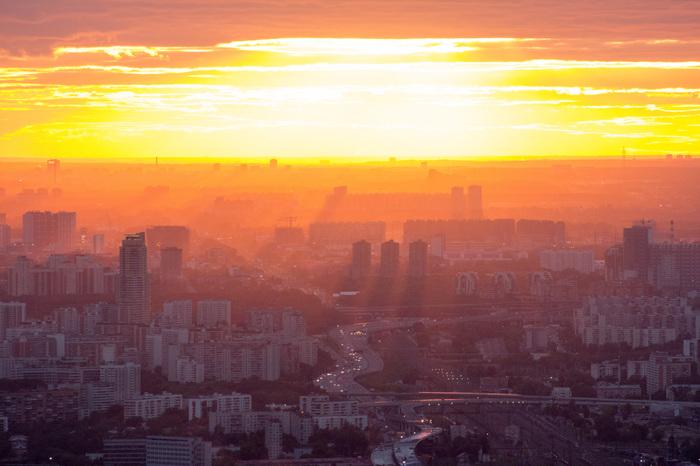 Свет и тени Москва, Закат, Солнце, Город
