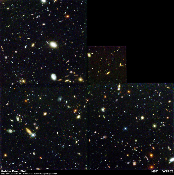 hubble galaxy field - 970×950
