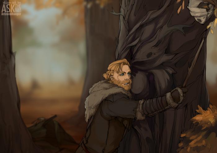 Не шути со скайримскими деревьями... The Elder Scrolls, The Elder Scrolls V: Skyrim, Skyrim, Довакин, Игры