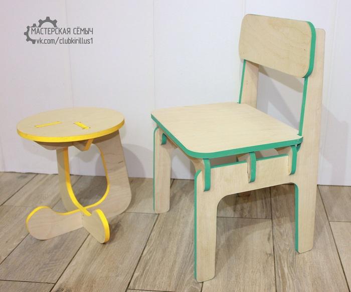 Детские стульчики из фанеры 12мм. Мебель, Своими руками, Чпу, Дерево, Фанера, Дизайн, Интересное, Длиннопост, Мастер