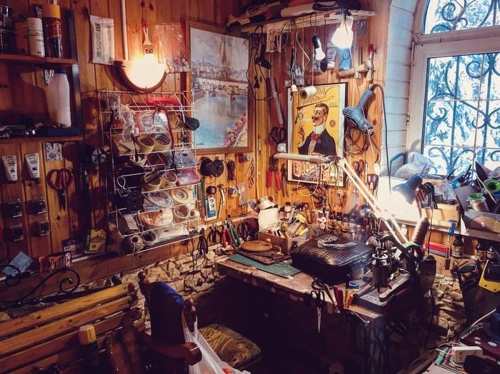 В мастерской Мастерская, Кожа, Ручная работа, Фотография, Длиннопост