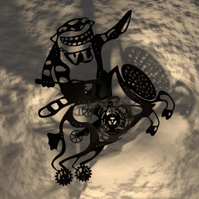 """Настенное панно """"Колбаса Конская"""" Панно, Вася Ложкин, Стимпанк, Кот, Конская колбаса, Лазерная резка, 3D, Blender, Длиннопост"""