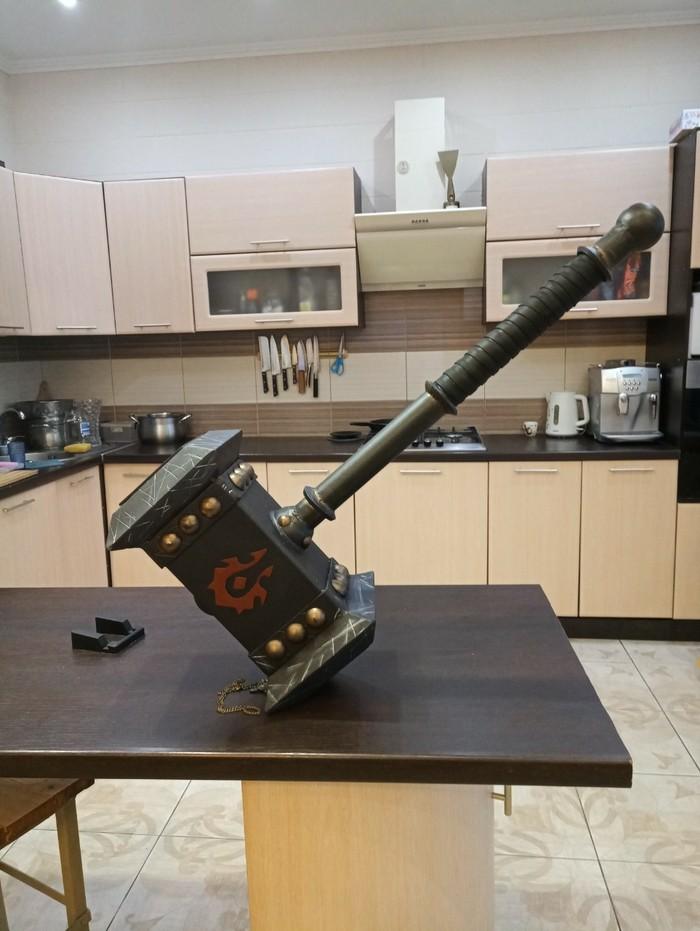 Молот рока (doomhammer) крафт World of Warcraft, Doomhammer, Diy Or Die, Своими руками, Крафт, Молот, Одесса, Длиннопост