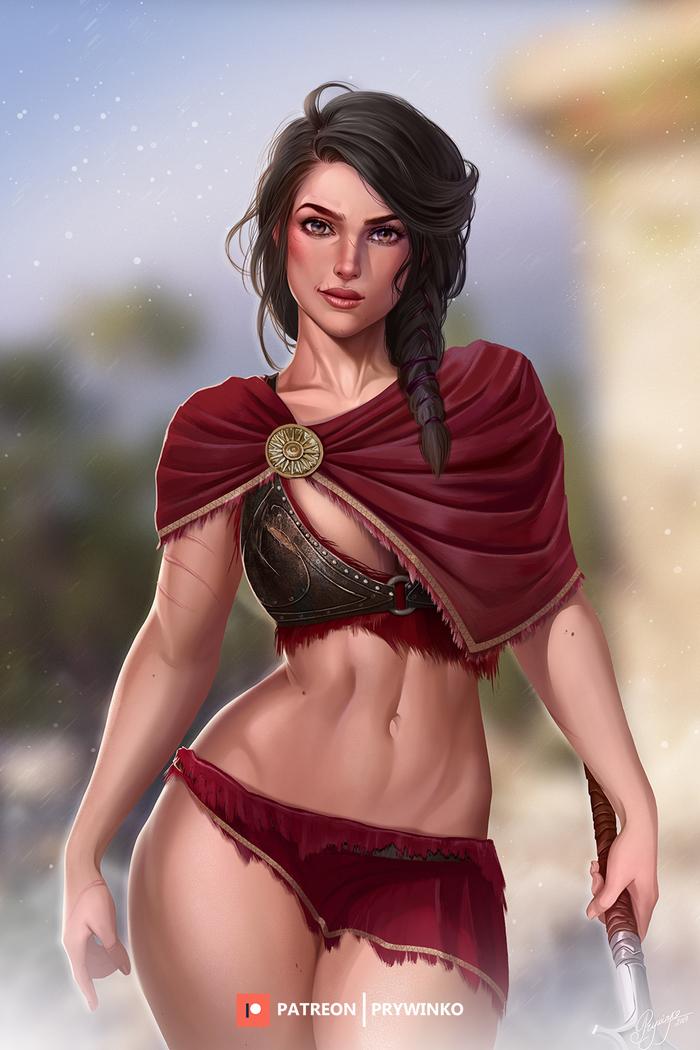 Kassandra Prywinko, Assassins Creed, Assassin's Creed Odyssey, Kassandra, Игры, Арт