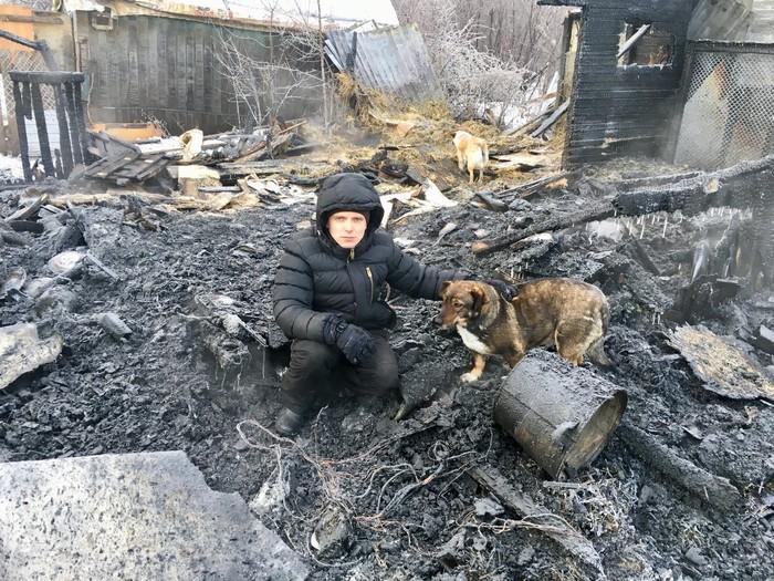 Помощь приюту Приют, Челябинск, Пожар, Без рейтинга, Животные, Беда