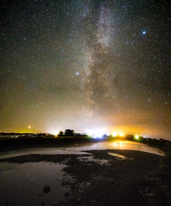 Панорамы Млечного Пути. Млечный путь, Ночная панорма, Панорама, Звёзды, Звездное небо, Башкортостан, Природа России, Длиннопост