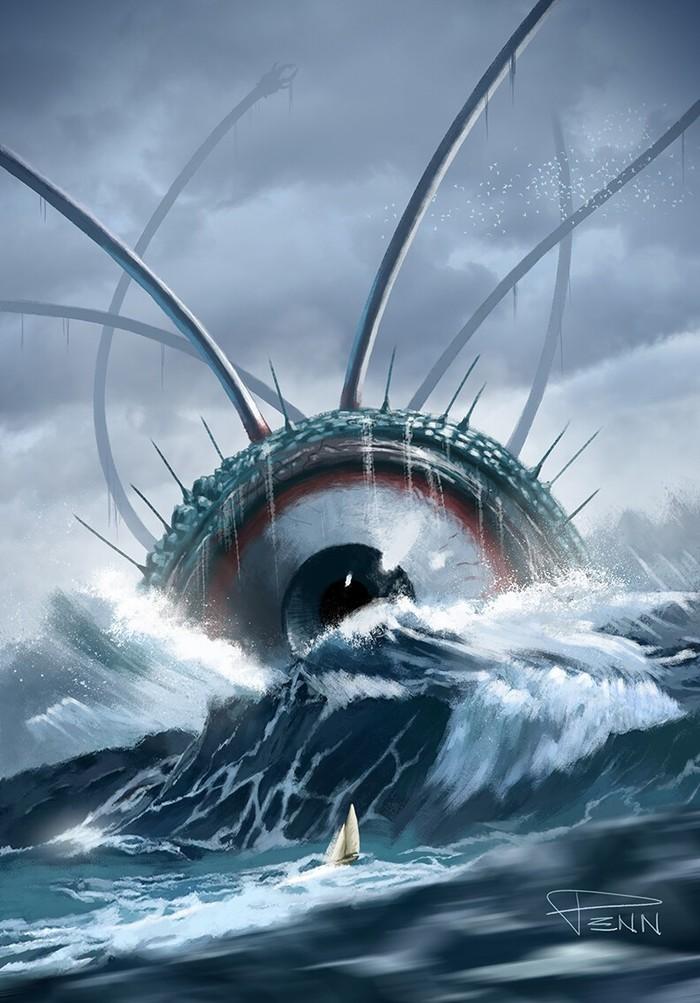 Глазик Арт, Рисунок, Существо, Океан