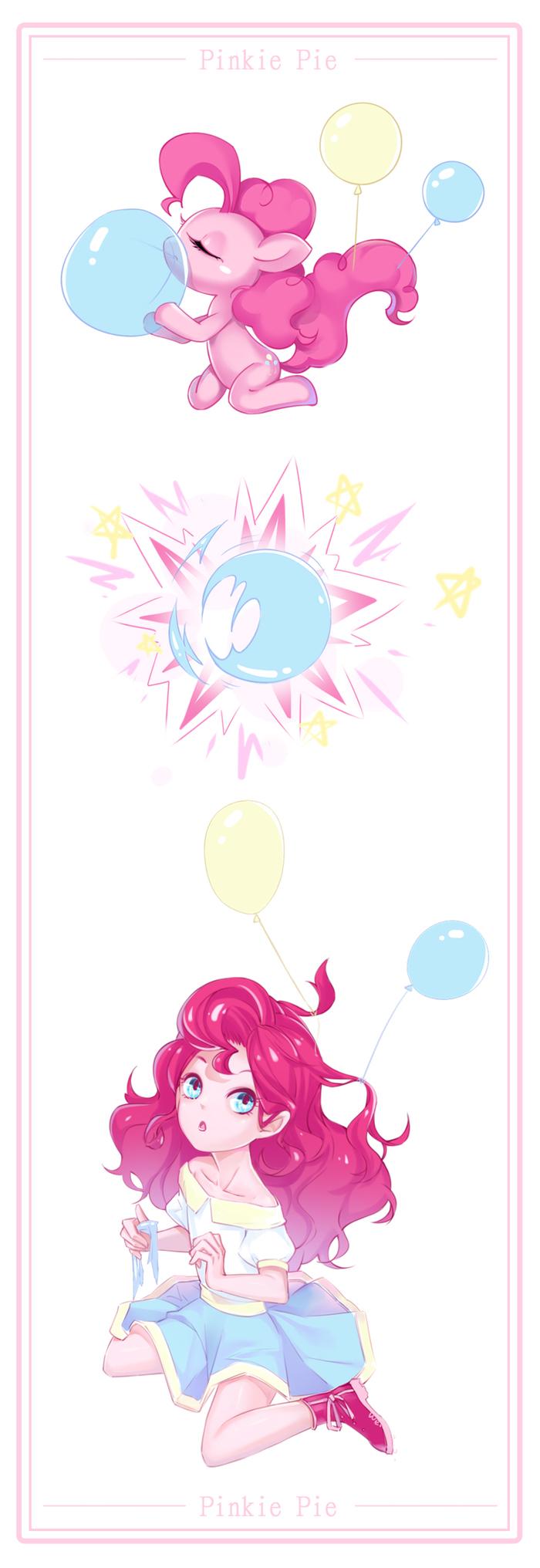 Пуфф My Little Pony, Pinkie Pie, Хуманизация, Spooo, Длиннопост