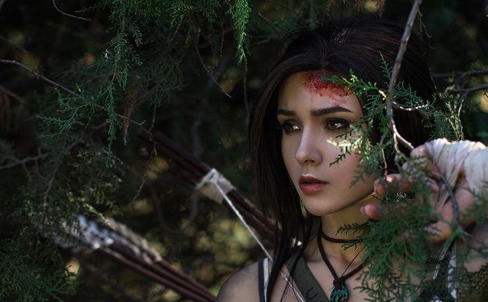 Lara Croft Косплей, Русский косплей, Красивая девушка, Видеоигра, Tomb raider, Лара Крофт, Длиннопост