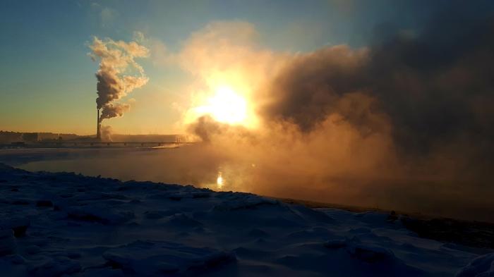 Мурманск. Кольский залив. Мурманск, Мороз, Фотография