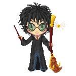 Pixel art и мир Гарри Поттера Гарри Поттер, Пиксель, Гифка