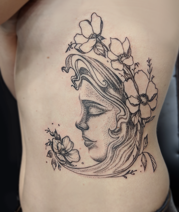 Каждому свою луну Эскиз татуировки, Девушка с тату, Tattooink, Тату
