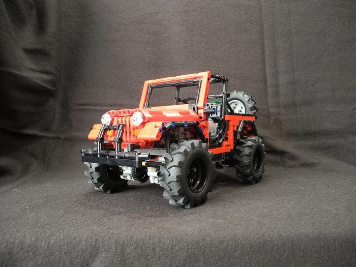 Lego Jeep scrambler cj8 самоделка LEGO, LEGO technic, Jeep Wrangler, Видео, Длиннопост