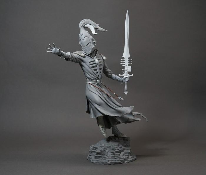 Фигурка/модель колдуна Эльдар из вселенной Warhammer. Warhammer, Скульптура, Лепка, Фигурка, Полимерная глина, Творчество, Длиннопост