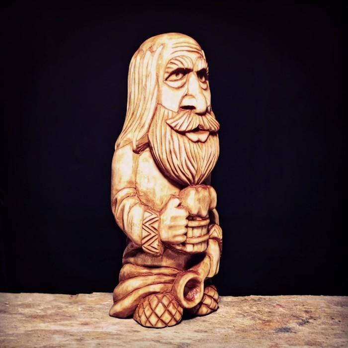 ДОМОВОЙ, материал липа, высота 16см. Резьба по дереву, Славянская мифология, Домовой