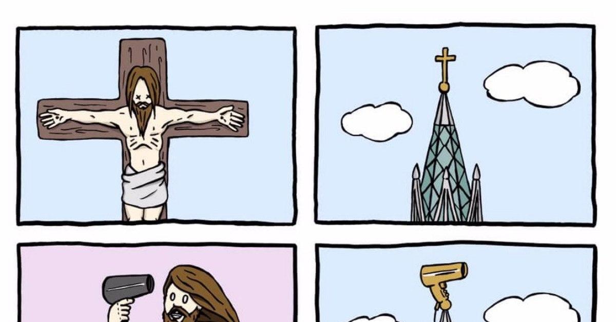 прикольные картинки про иисуса голые спортсмены