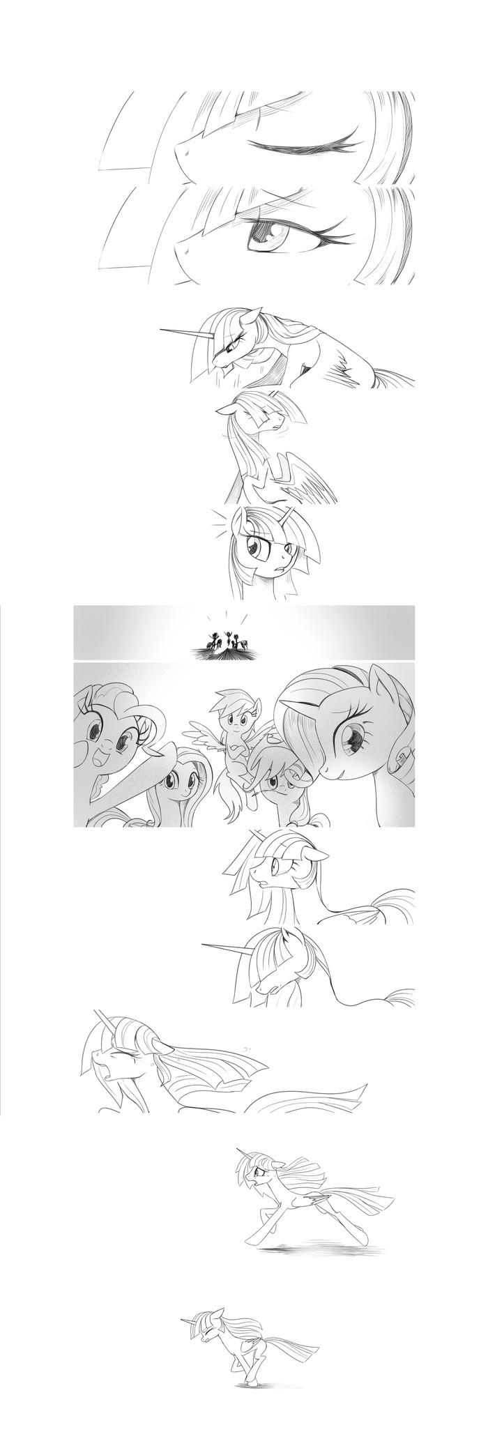 Recall the Time of No Return - Rest in Friendship My Little Pony, Mane 6, Recall The Time of No Return, Комиксы, Длиннопост