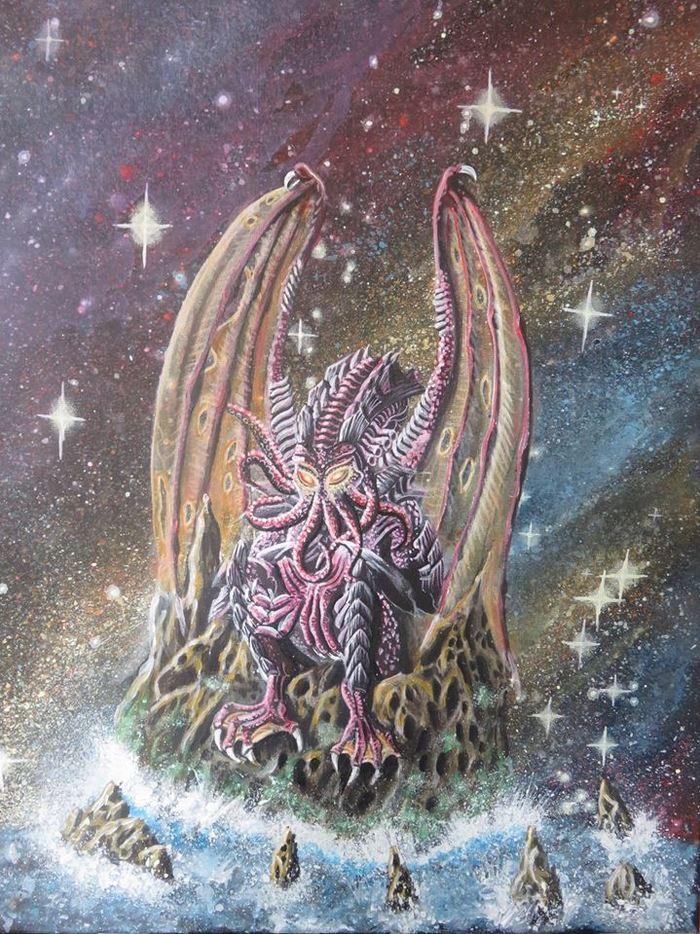 Немного поистине крутой вещи по Говарду Филлипсу Лавкрафту Lovecraft Art, Говард Филлипс Лавкрафт, Художник, Ктулху, Арт, Длиннопост