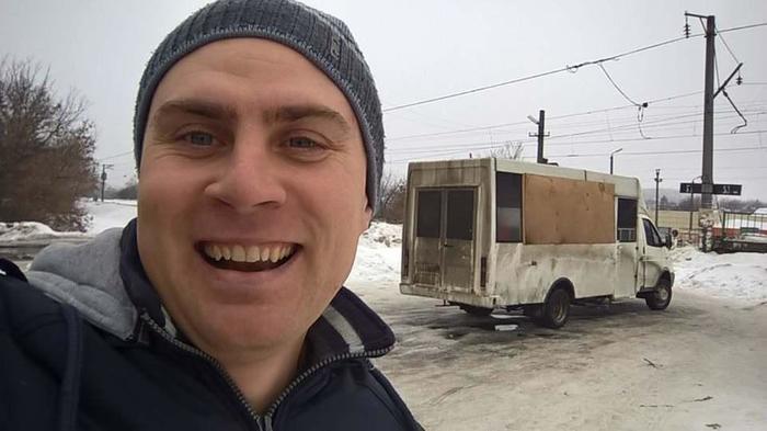 Под Харьковом на маршрут вышел необычный автобус Автобус, Харьков, Длиннопост, Маршрутка, Украина