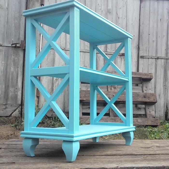 Этажерка из древесины Этажерка, Стеллаж, Тумбочка, Консоли, Деревянная мебель, Длиннопост