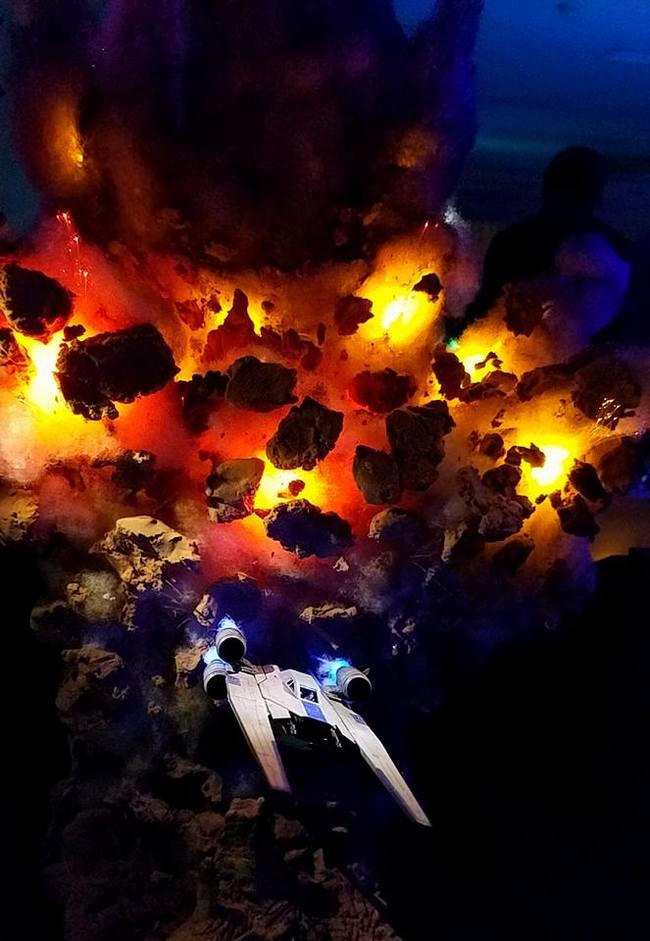 """""""There's no horizon"""" Стендовый моделизм, Космический корабль, Cihat Uygun, Фотография, Взрыв, Длиннопост, u-Wing, Star Wars, Диорама"""