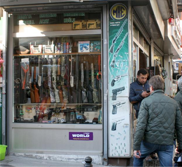 """""""Огнестрельный"""" ларек-марек Оружейная лига, Магазин, Оружие, Турция"""