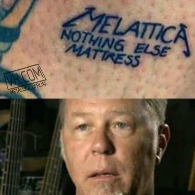 Ничего ни матрас Metallica, Тату, Партак, Джеймс Хэтфилд